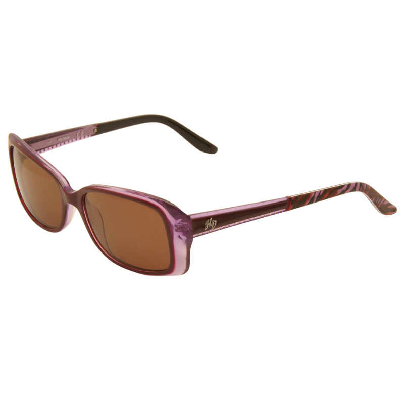 Harley Davidson –  Purple Crystal & Diamante Classic Style Sunglasses with Case