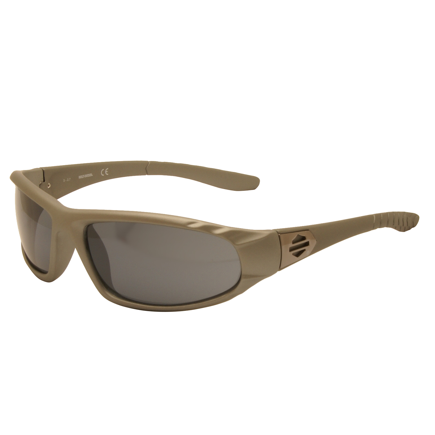 Harley Davidson – Satin Grey Wraparound Style Sunglasses with Case