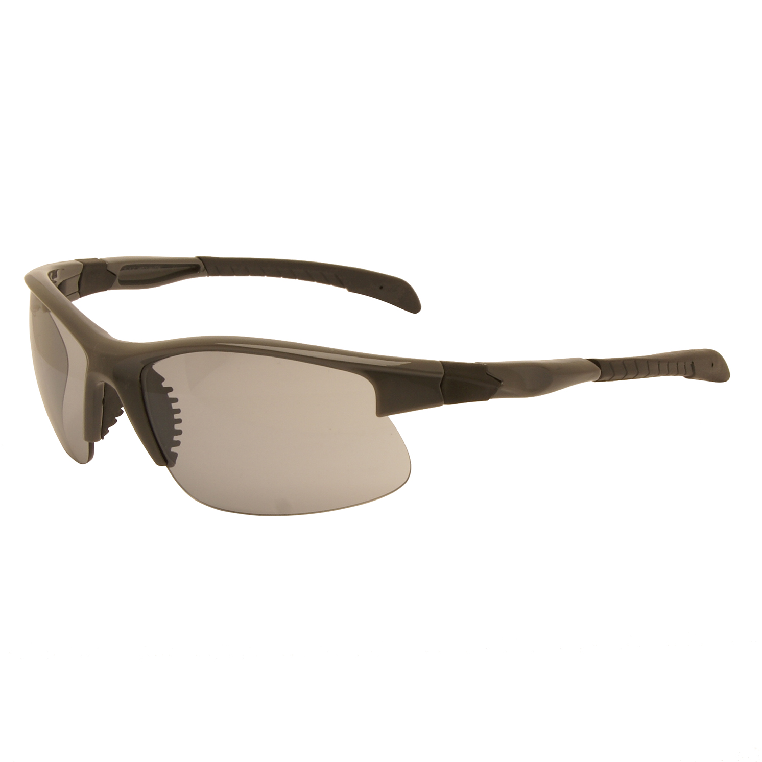 Harley Davidson – Shiny Grey & Black Wraparound Style Sunglasses with Case