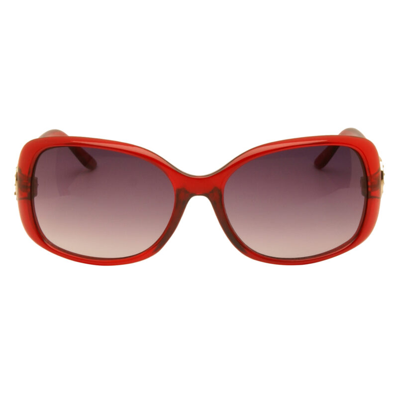 Harley Davidson – Clear Red with Diamante Classic Style Sunglasses with Case