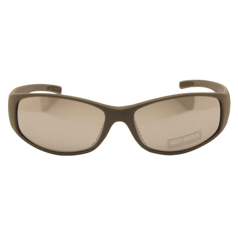 Harley Davidson – Matt Grey & Orange Wraparound Style Sunglasses with Case