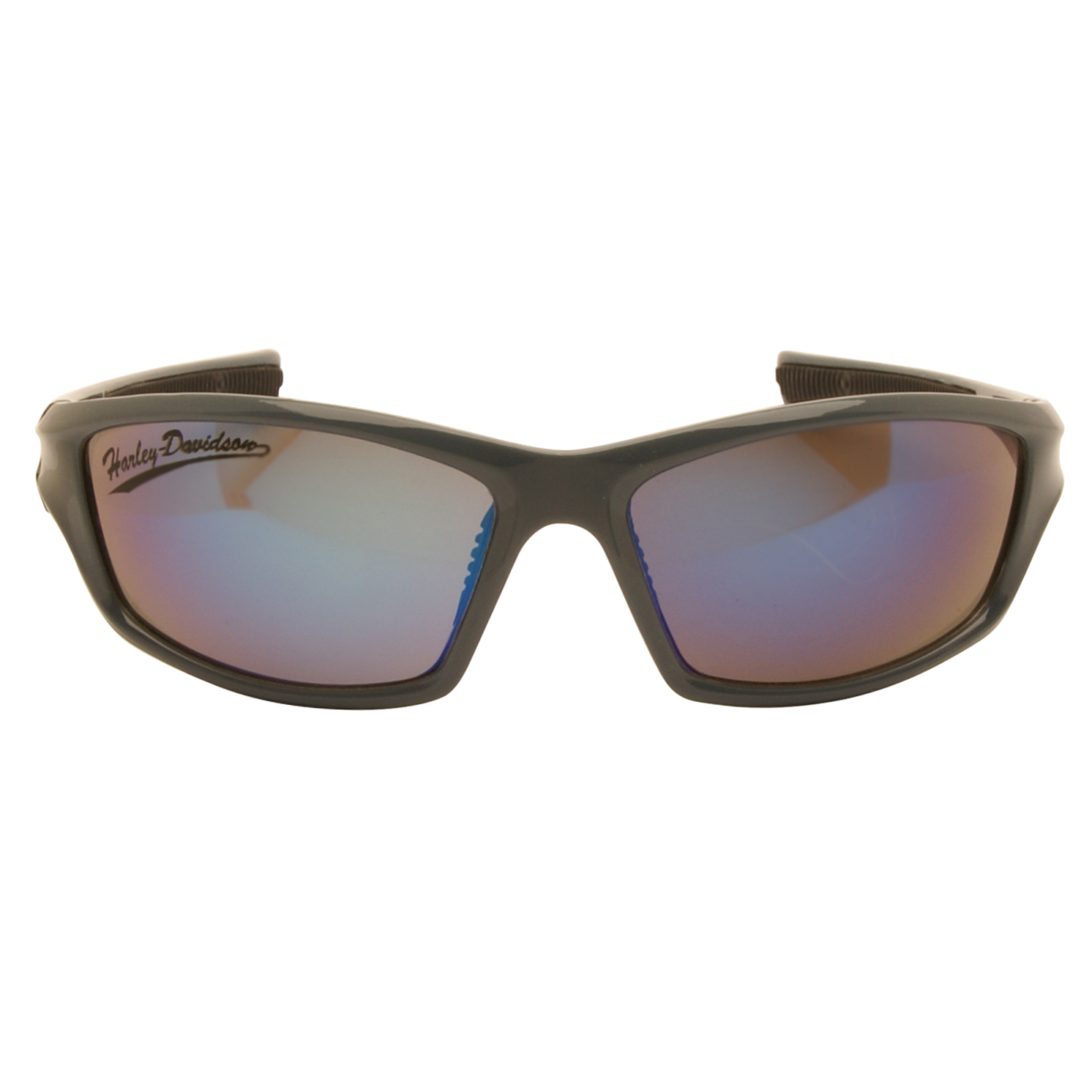 Harley Davidson – Shiny Blue Mirror Wraparound Style Sunglasses with Case