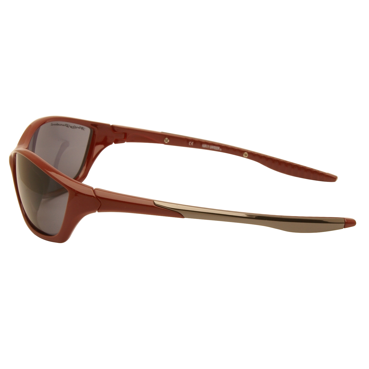 Harley Davidson – Dark Red Wraparound Style Sunglasses with Case