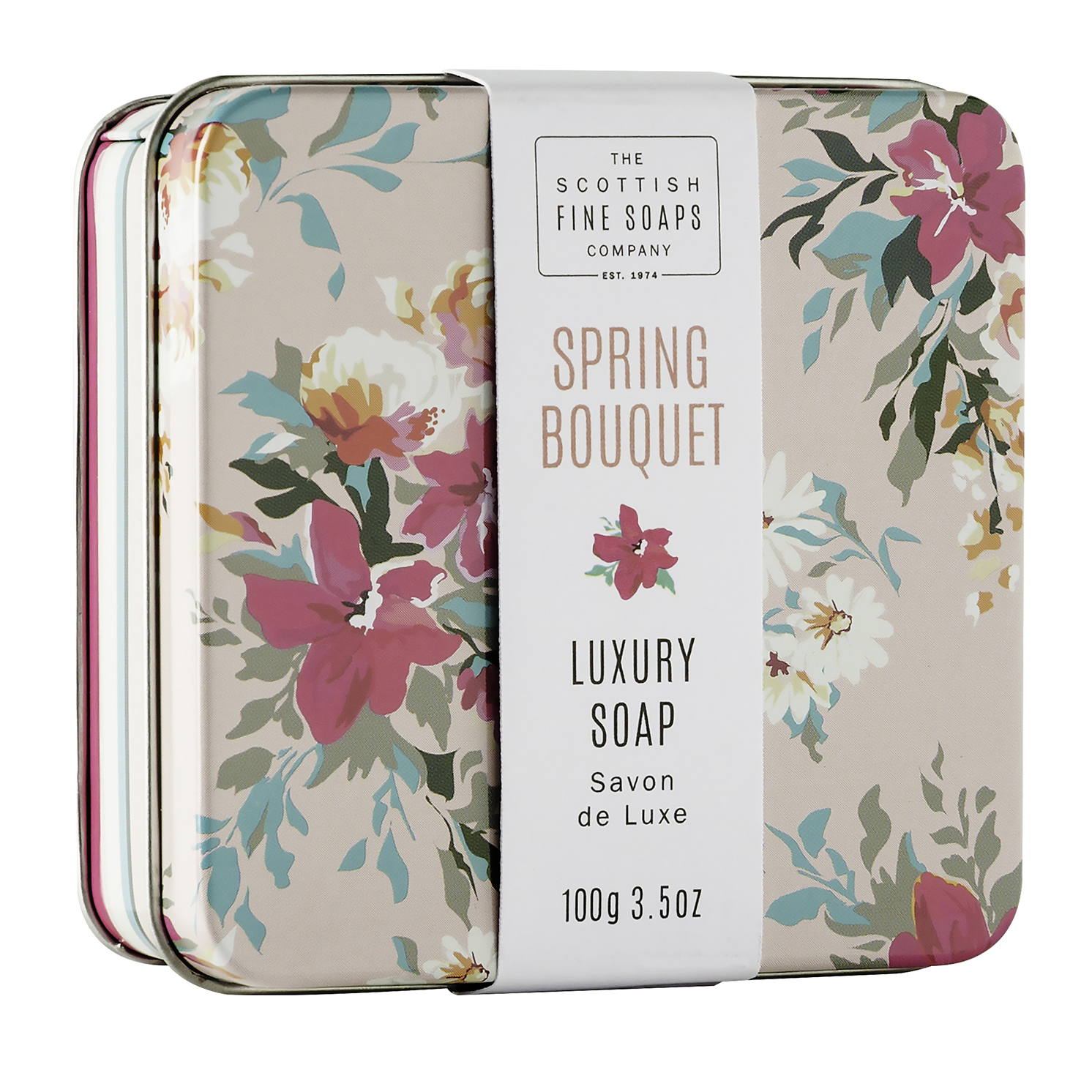 The Scottish Fine Soaps Company – Set of 4 Assorted Floral Soaps in Gift Tins