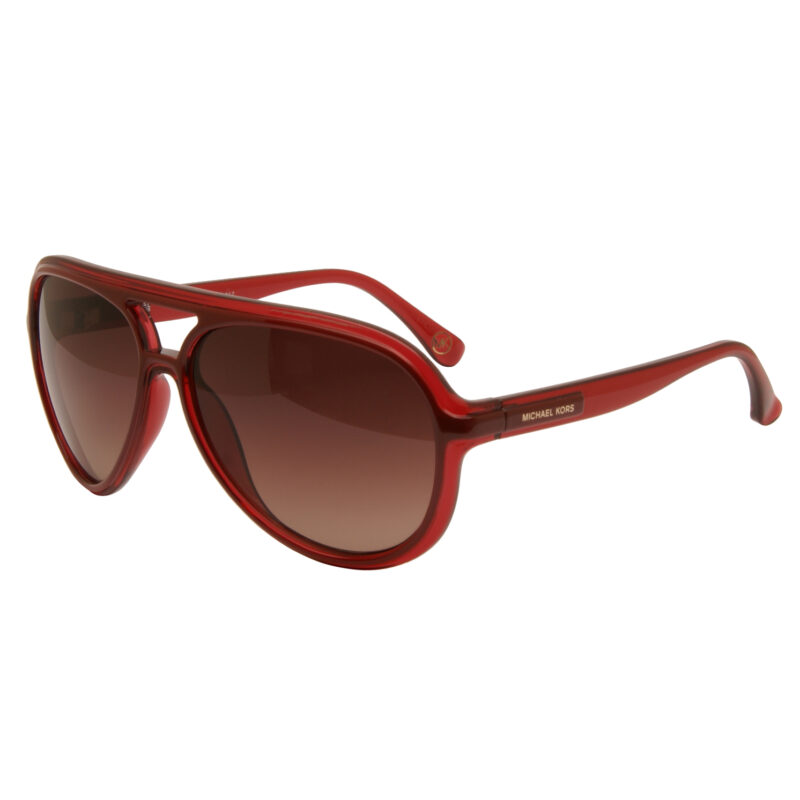 Michael Kors – Crimson Red Salvador Aviator Style Sunglasses with Case