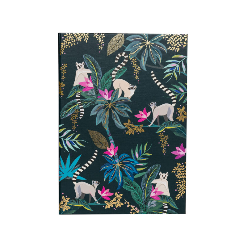 Sara Miller – Green Tahiti Lemur Design Luxury A5 Notebook
