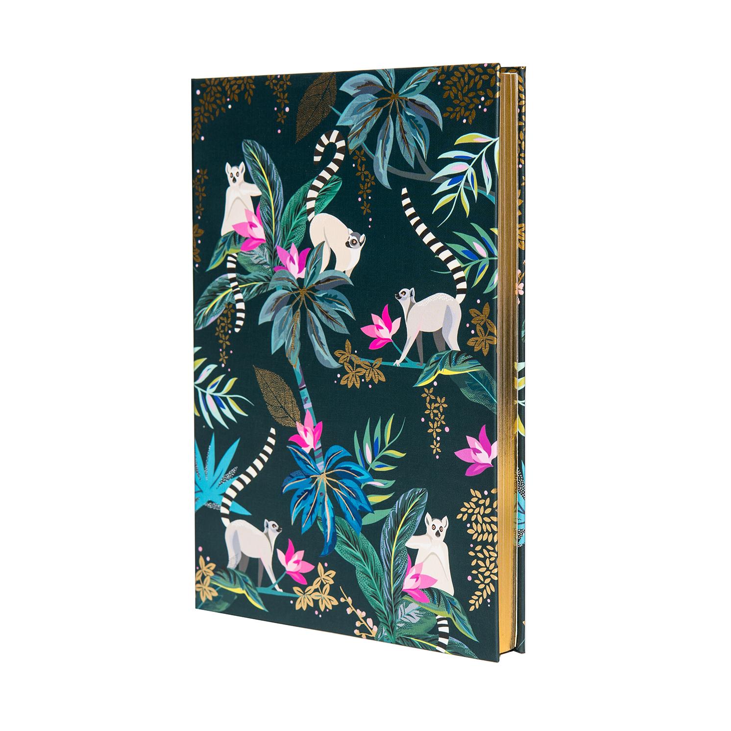 Sara Miller – Green Tahiti Lemur Design Luxury A5 Notebook