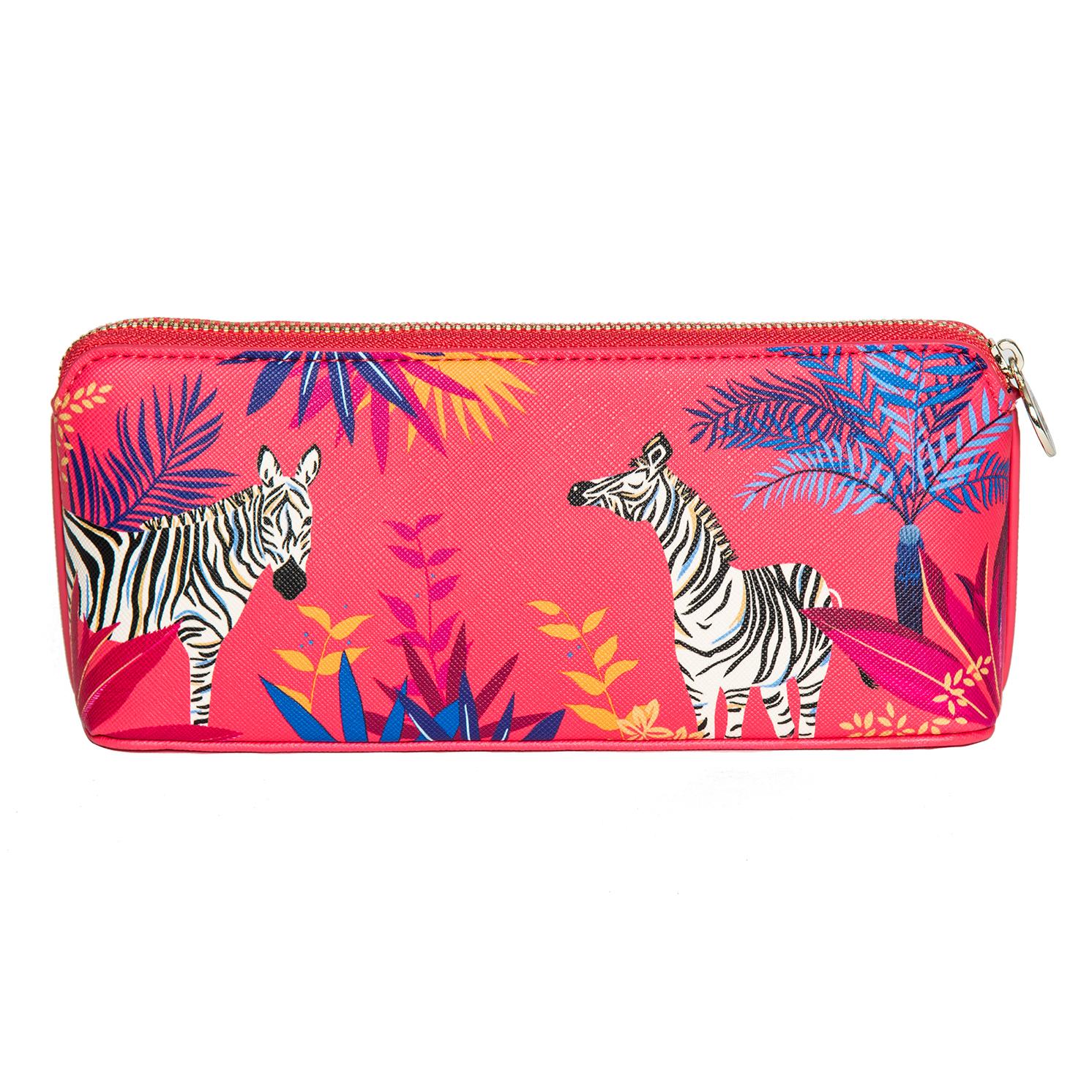 Sara Miller – Orange Tahiti Zebra Design Large Pencil Case