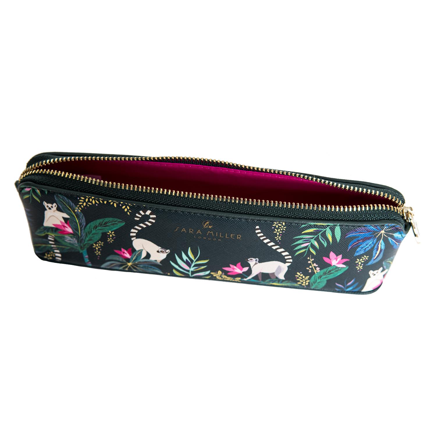 Sara Miller – Green Tahiti Lemur Design Ballpoint Pen and Matching Pencil Case