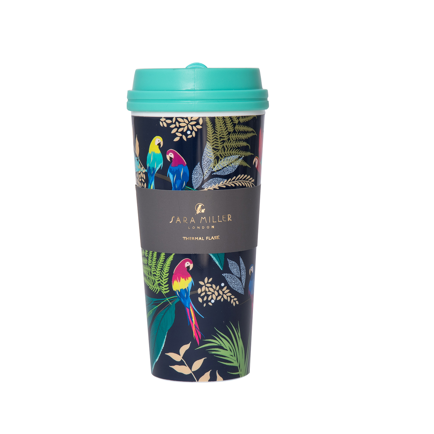 Sara Miller – Blue Parrot Tropical Design Thermal Tumbler/Flask