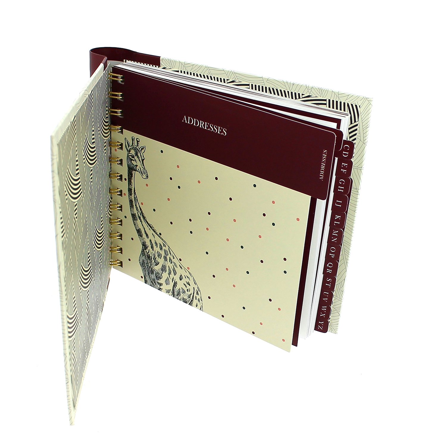 Yvonne Ellen – Wild Opulence Cream Elephant Design Address Book