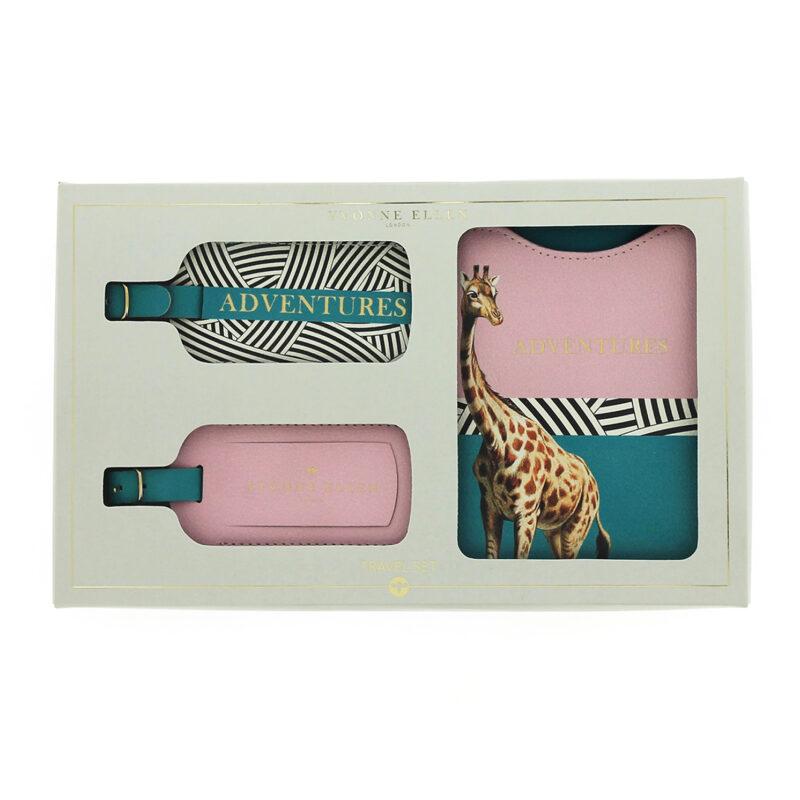 Yvonne Ellen – Giraffe 3 Piece Adventures Travel Set in Presentation Gift Box