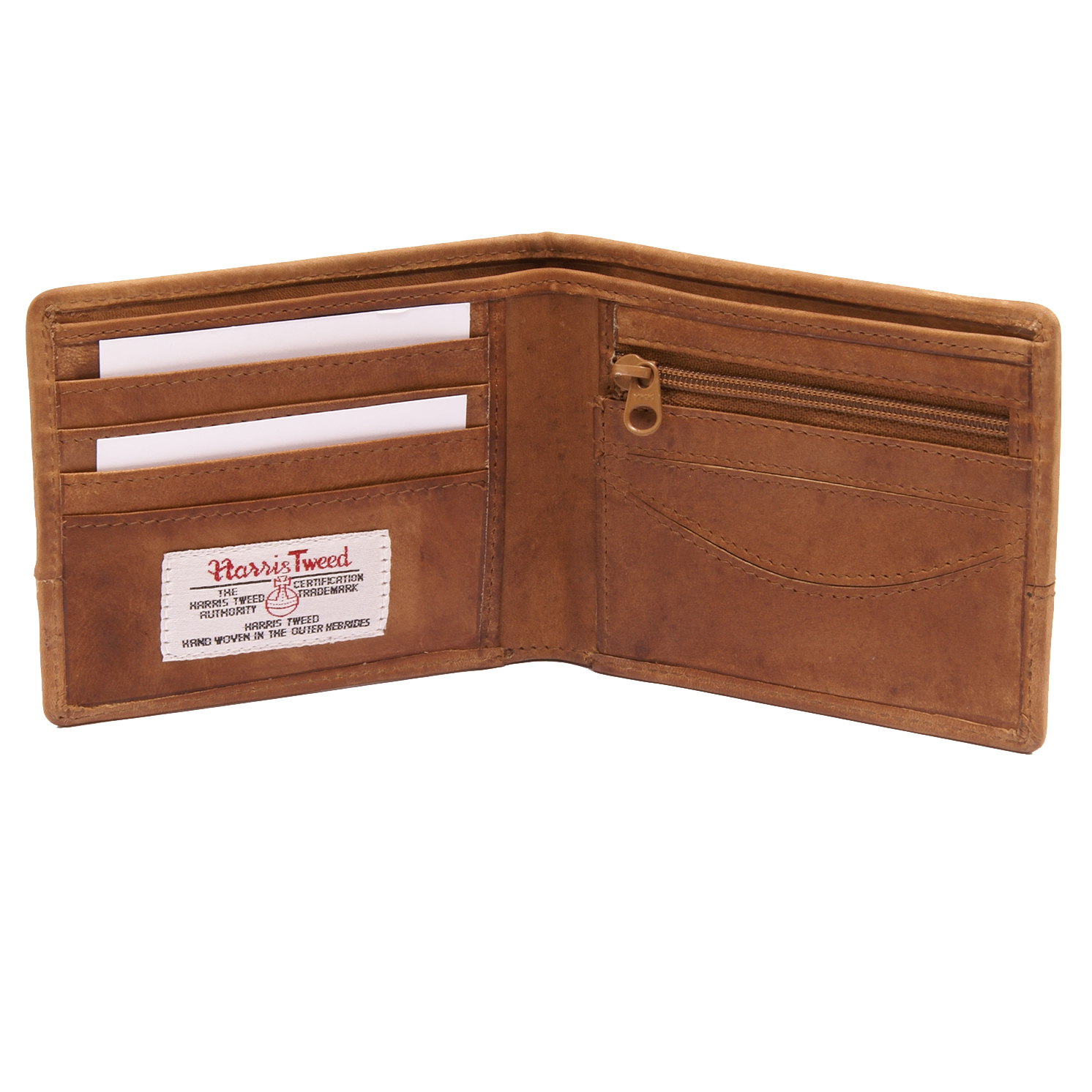 The British Bag Company – Stornoway Harris Tweed Wallet with Tan Leather Trim