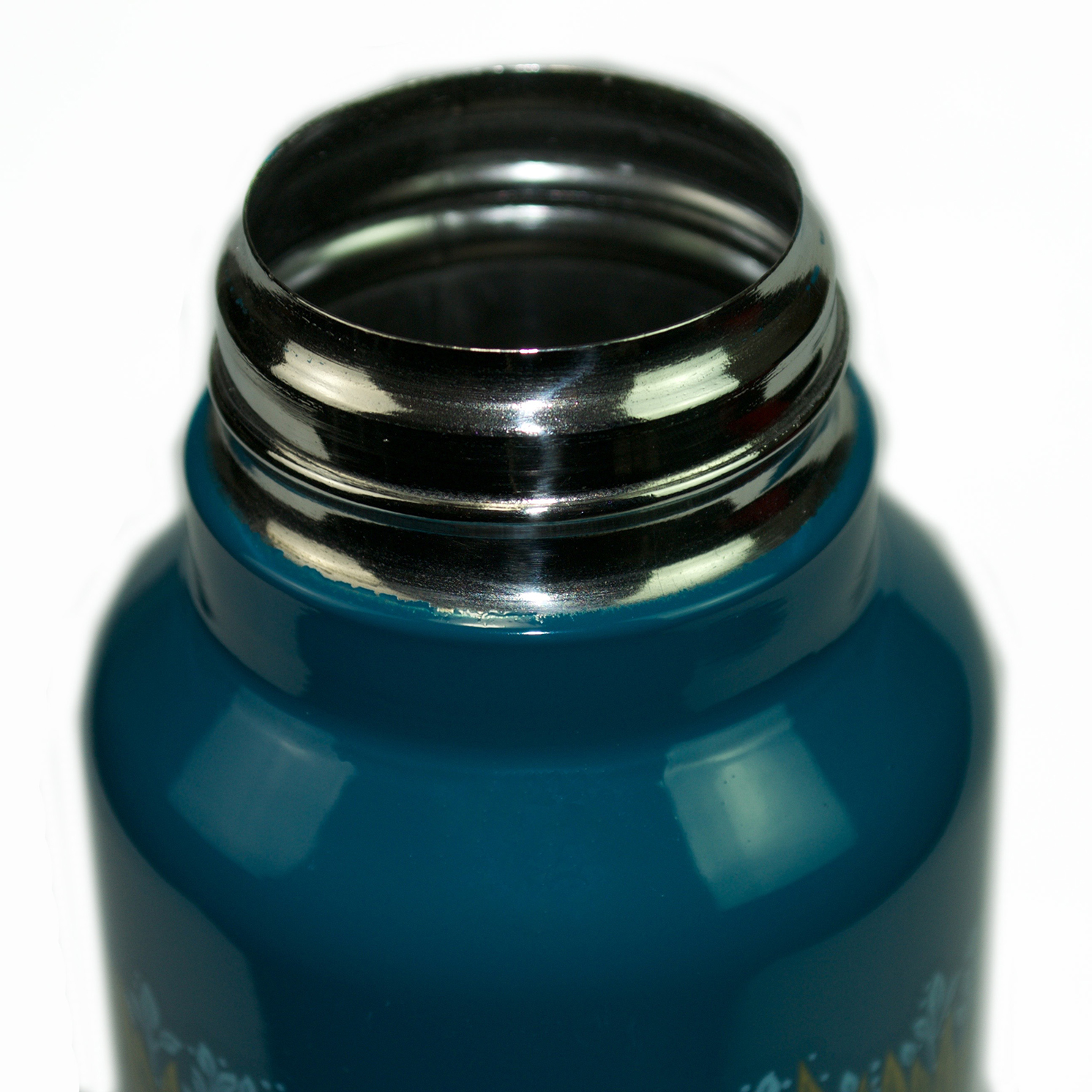 Morris & Co – Turquoise Blue Marigold Print Stainless Steel Water Bottle