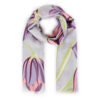 Powder – Lilac Spring Hare Print Scarf with Powder Presentation Gift Bag