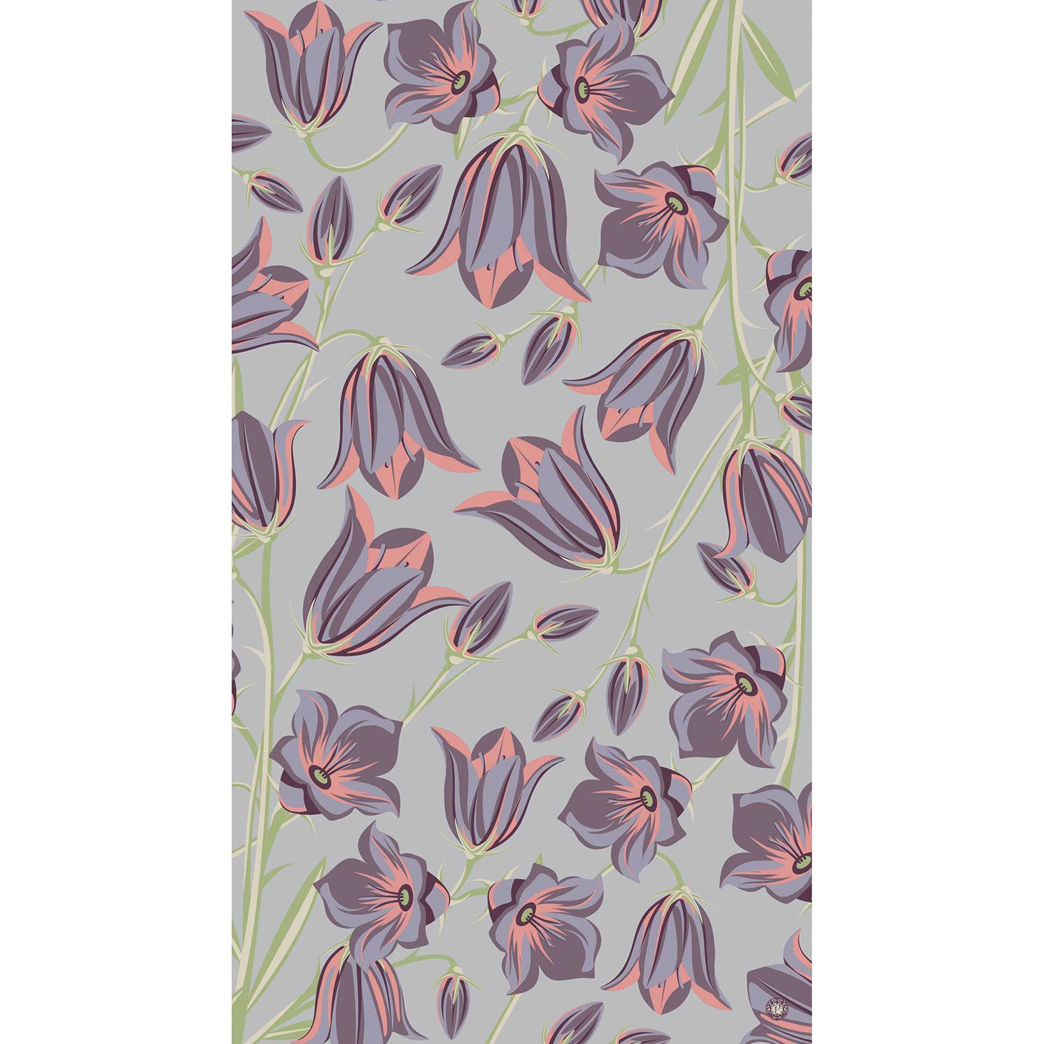Powder – Lilac Bluebell Print Scarf with Powder Presentation Gift Bag