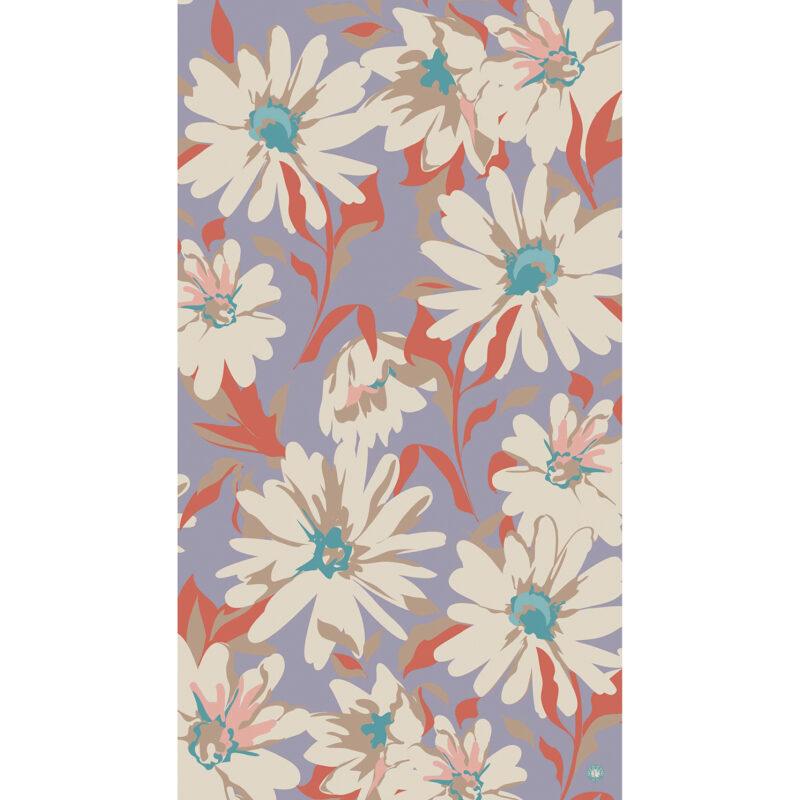 Powder – Lilac Daisy Print Scarf with Powder Presentation Gift Bag