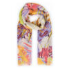 Powder – Burnt Orange Lily Print Scarf with Powder Presentation Gift Bag