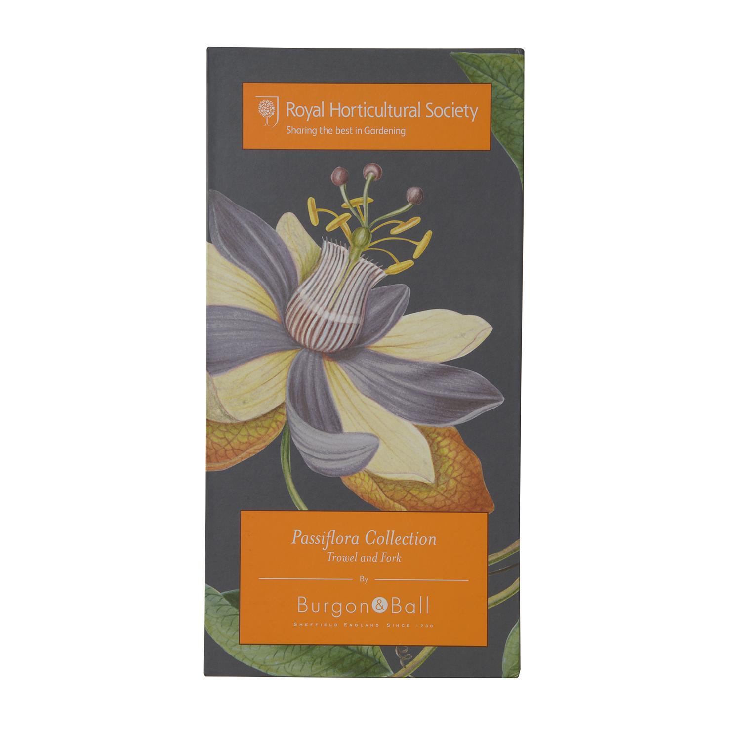 Burgon & Ball – RHS Passiflora Trowel & Fork Set in Presentation Gift Box