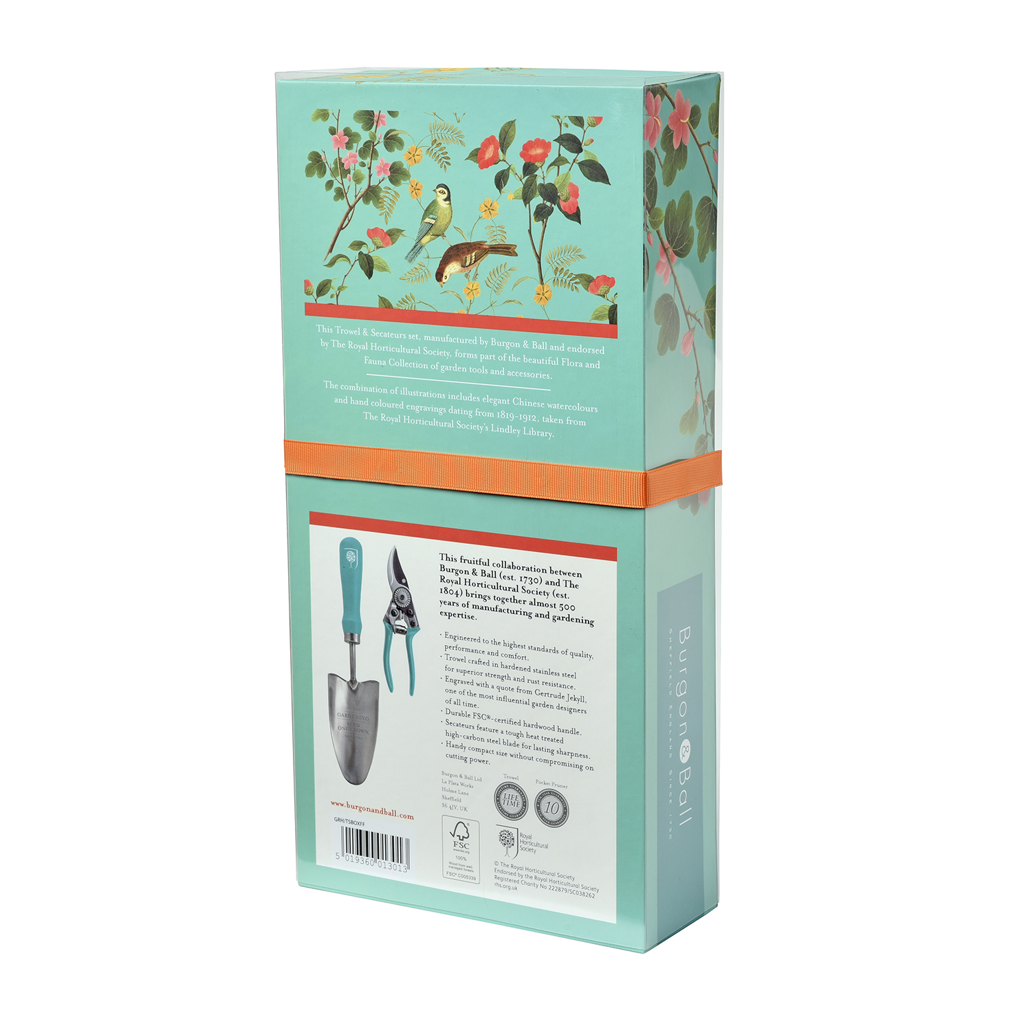 Burgon & Ball – RHS Flora and Fauna Trowel & Secateurs Set in Gift Box