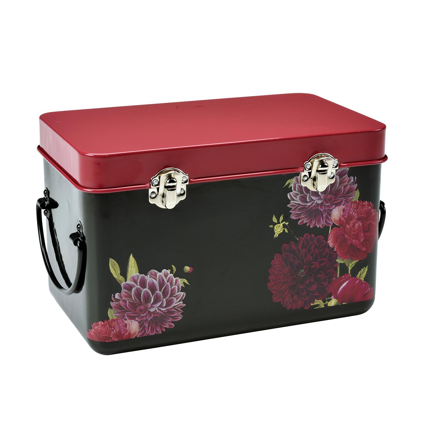 Burgon & Ball – RHS British Bloom Metal Handled Seed Packet Storage Tin