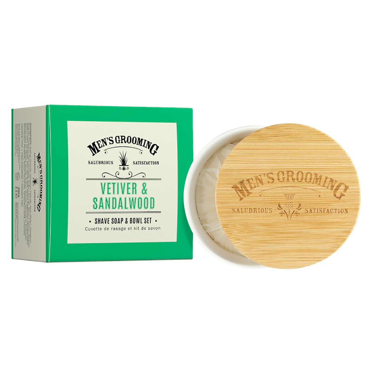 The Scottish Fine Soaps Company – Vetiver & Sandalwood Shave Soap and Bowl Set