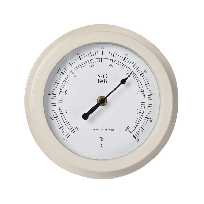 Burgon & Ball – Sophie Conran Buttermilk Garden Dial Thermometer in Gift Box