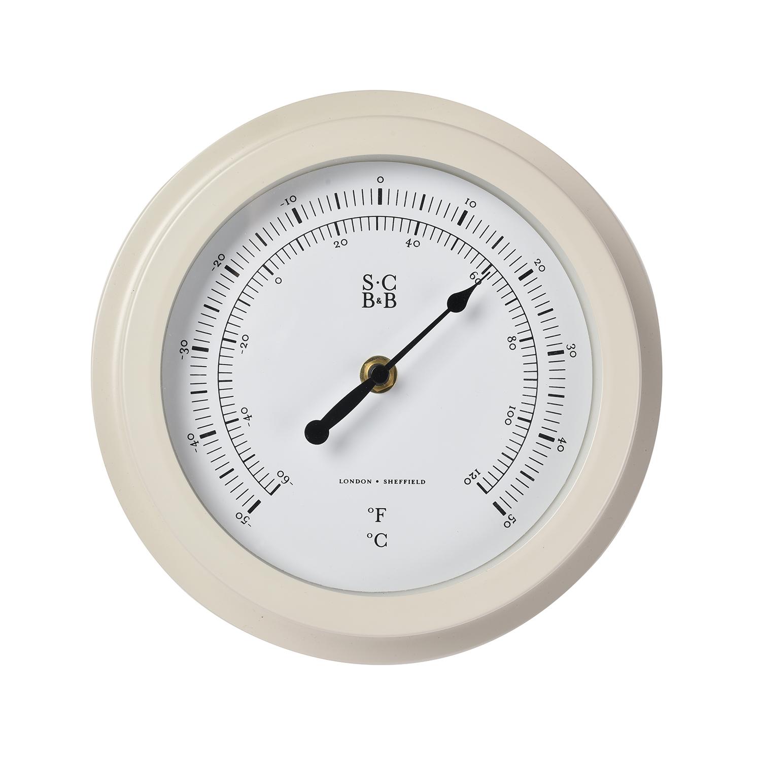 Burgon & Ball – Sophie Conran Buttermilk Garden Dial Thermometer in Gift Box