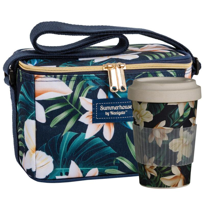 Navigate – Summerhouse 'Java' Personal Cool Bag with Matching 'Java' Travel Mug