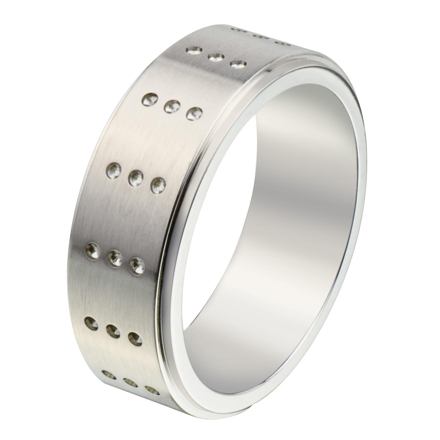 Jos Von Arx – Arx Diamond Cut Pattern Ring in Presentation Gift Box