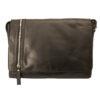 Rowallan – Black Veneer North/South Top Zip Messenger Bag in Buffalo Leather
