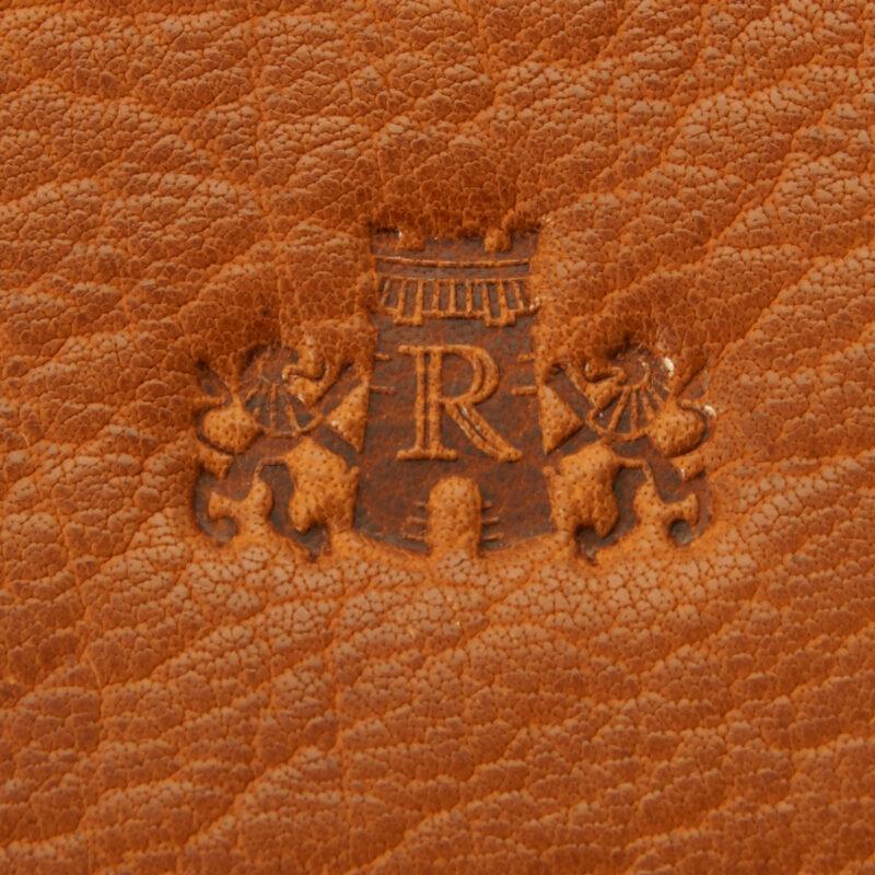 Rowallan – Tan Veneer North/South Front Flap Messenger Bag in Buffalo Leather
