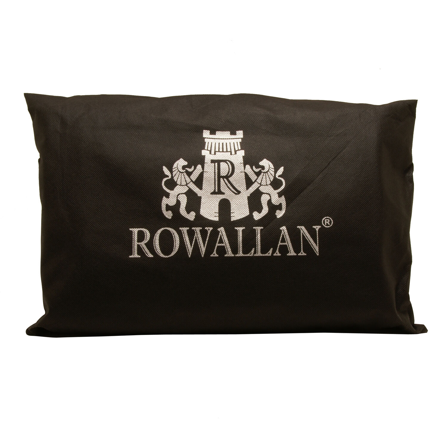 Rowallan – Large Black Conquest Messenger Laptop Bag in Buffalo Leather