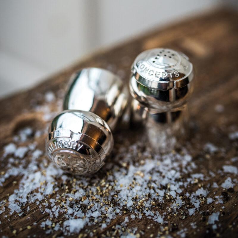 Culinary Concepts – Champagne Cork Salt and Pepper Cruet Set in Gift Box