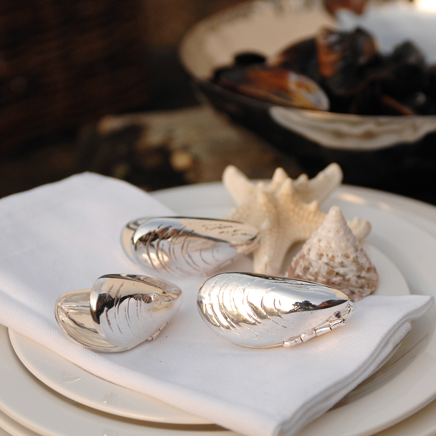 Culinary Concepts – Pair of Silver Plated Mussel Eaters in Presentation Gift Box