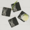 The Just Slate Company – 4 Slate Pheasant Mini Cheese Boards & Knives Gift Set