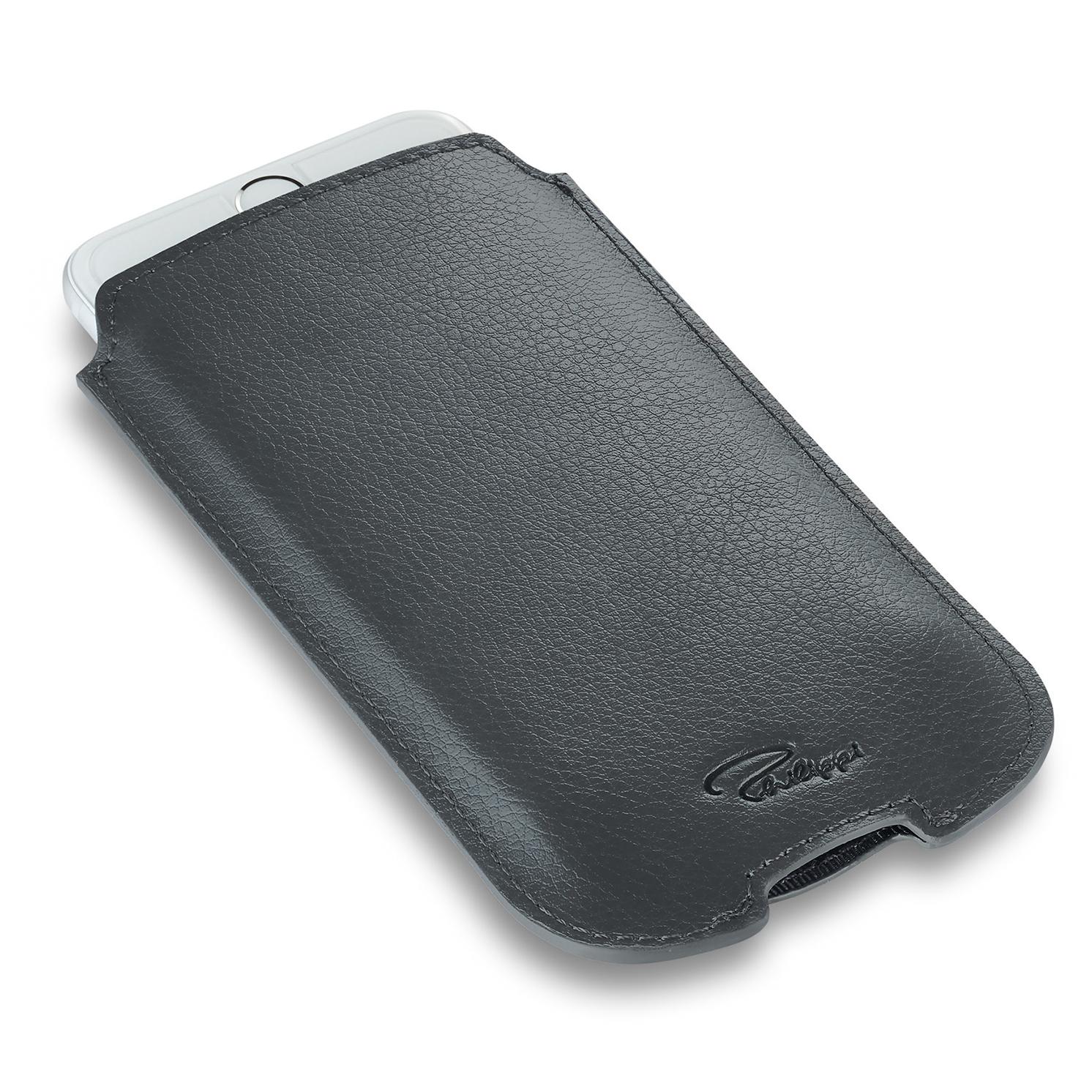 Philippi – Grey Leather 'ALEGRO' iPhone 6/7/8 Case in Presentation Gift Box