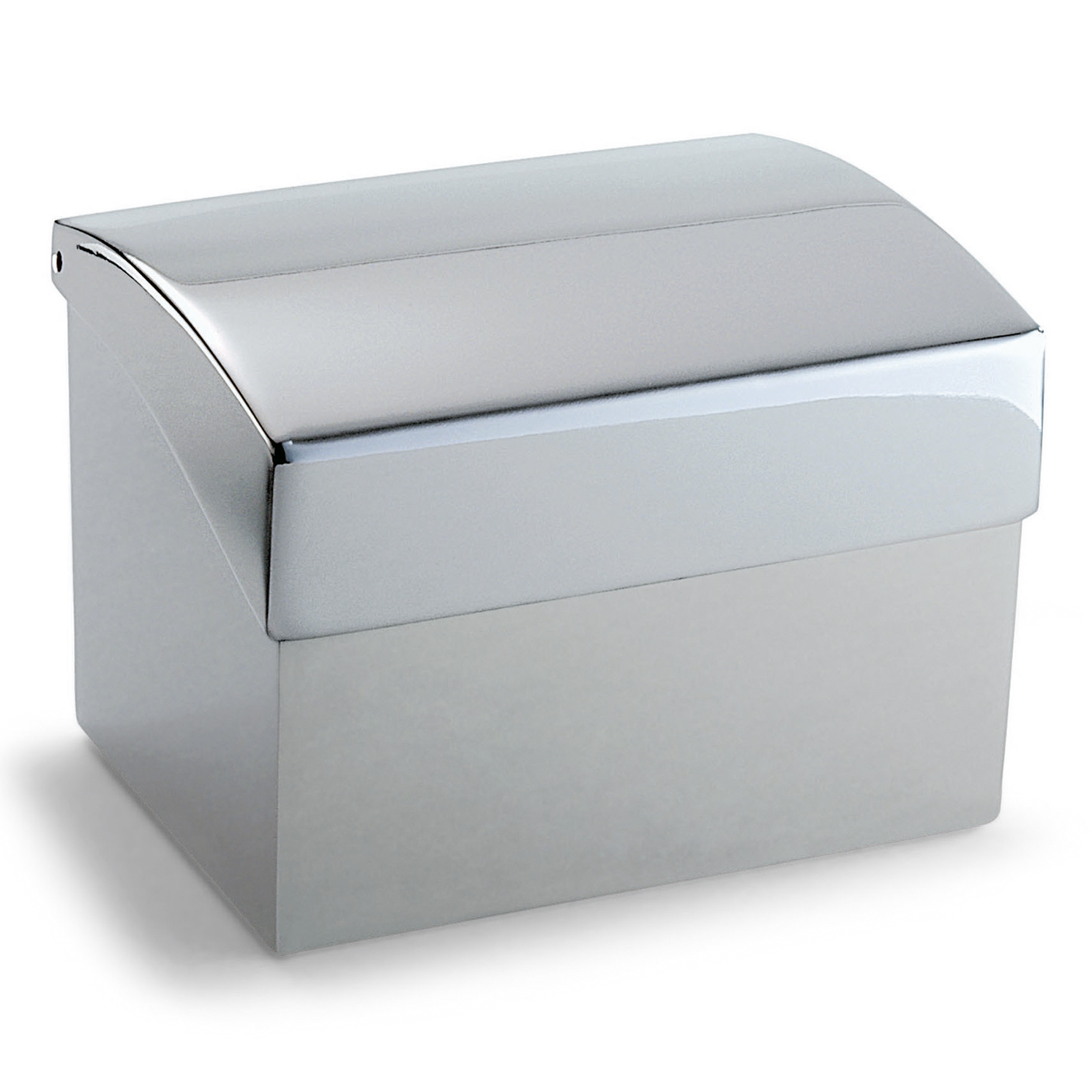 "Philippi – Silver ""Clip"" Business Card Box/Holder with Index in Presentation Box"