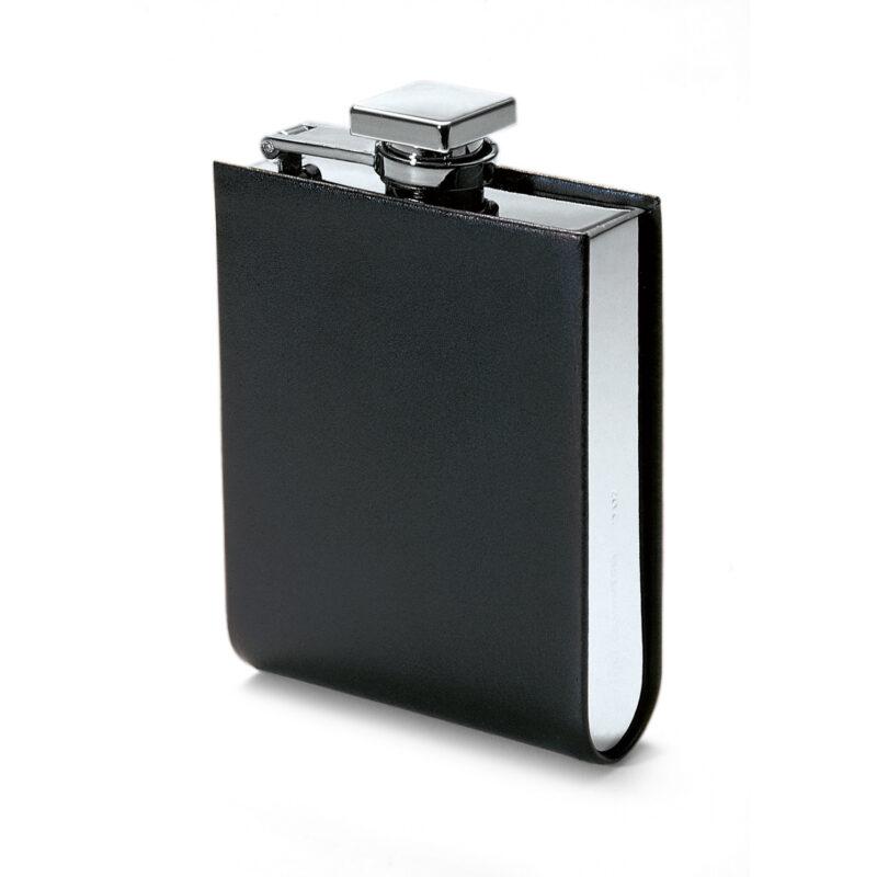 Philippi – Giorgio Black Leather Hip Flask in Presentation Gift Box