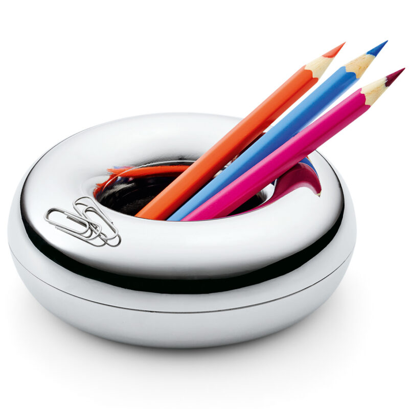 Philippi – 'LUCIUS' Doughnut Shaped Pen and Paperclip Holder in Gift Box