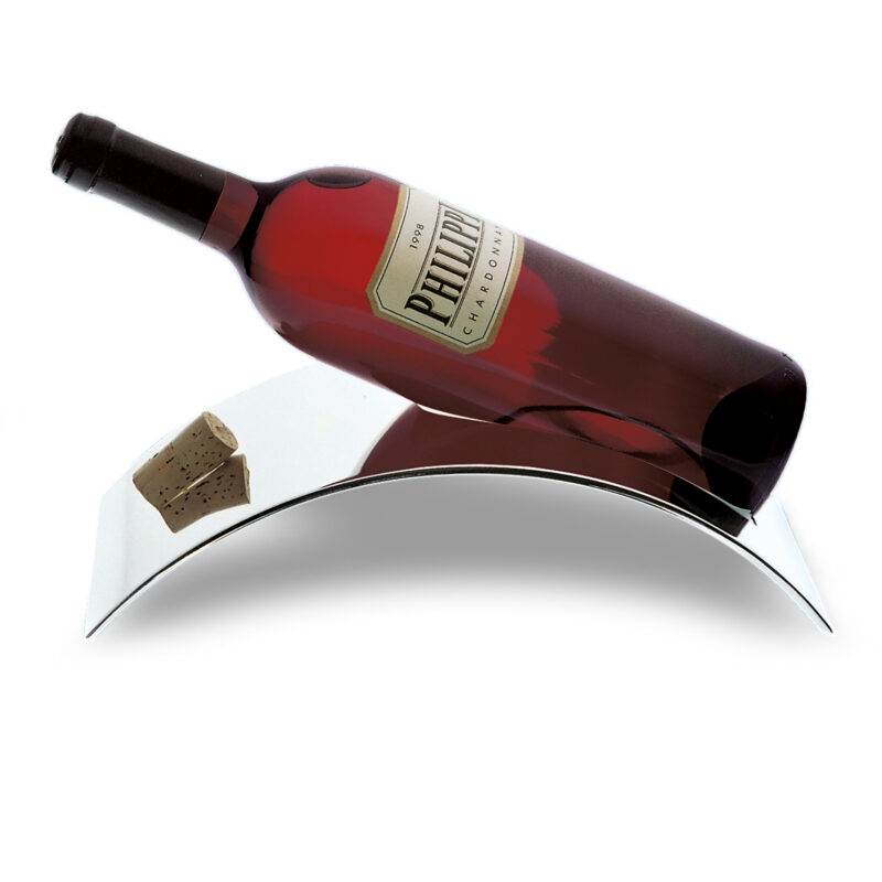 Philippi – Silver Wine Bottle STAND Holder in Presentation Gift Box
