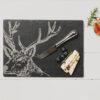 The Just Slate Company – Highland Cow Engraved Slate Cheese Board & Knife Set