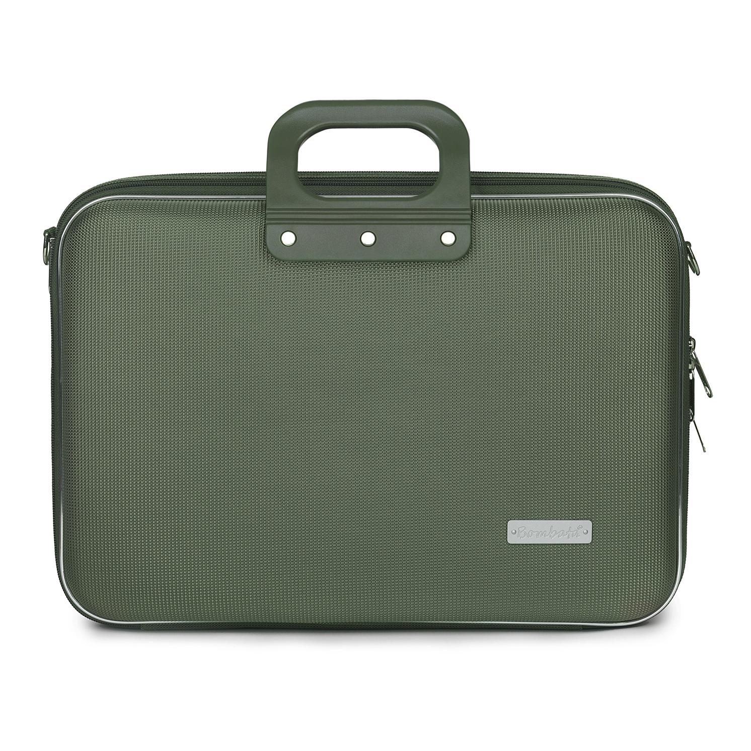 Bombata – Khaki Business Nylon 15.6″ Laptop Brief Case/Bag with Shoulder Strap