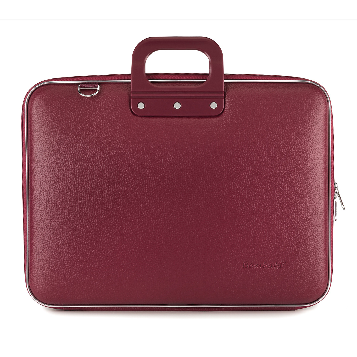 Bombata – Burgundy Red Maxi Classic 17″ Laptop Case/Bag with Shoulder Strap