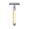Edwin Jagger – Imitation Ivory Rubber Coated DE Safety Razor with Blade in Box