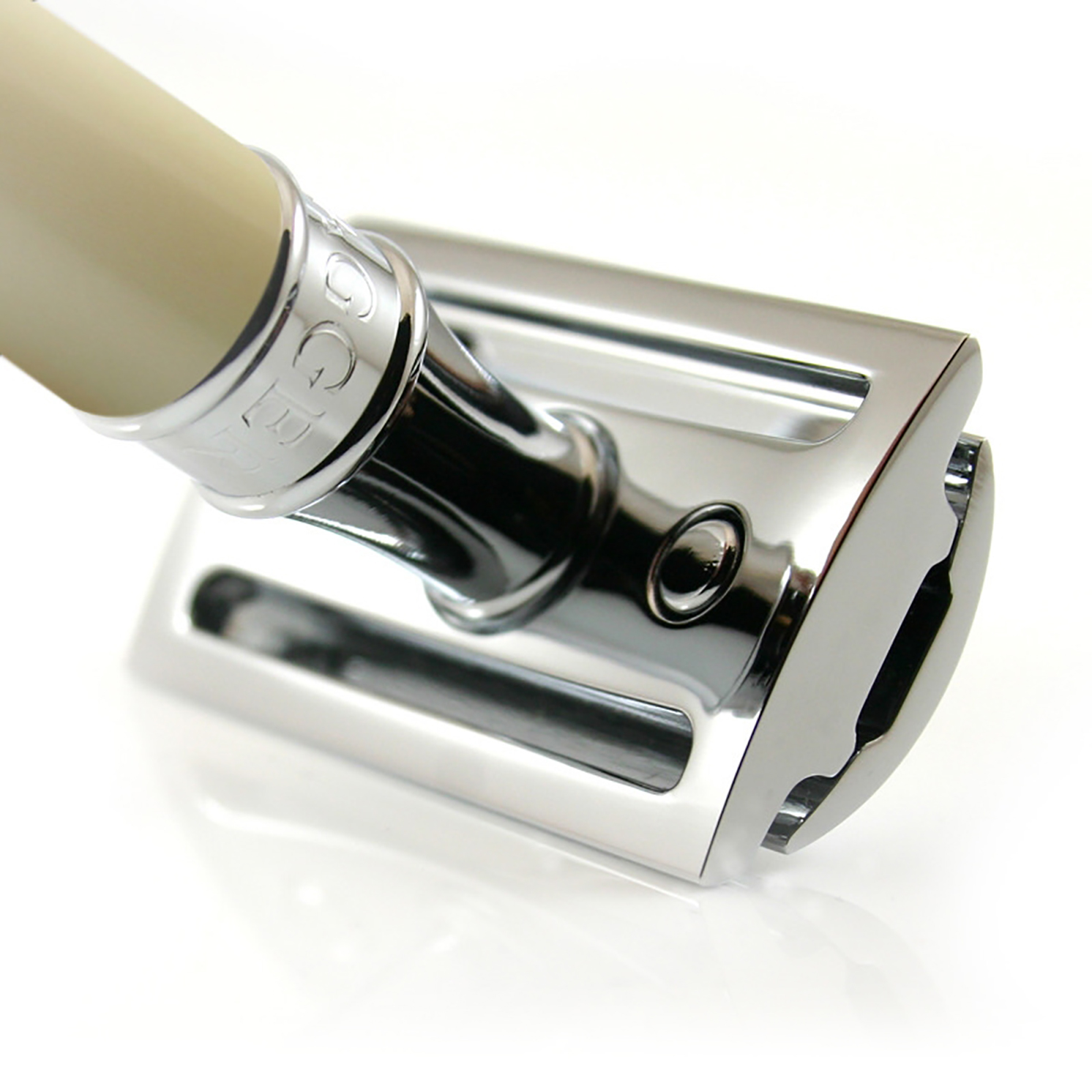 Edwin Jagger – Ivory Double Edge Safety Razor with Feather Blade in Gift Box