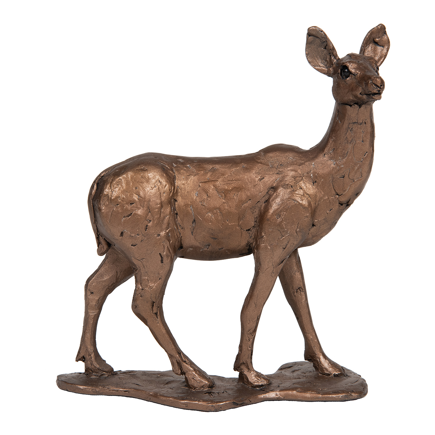 Frith Sculpture – Hind in Bronze Resin by Thomas Meadows in Gift Box