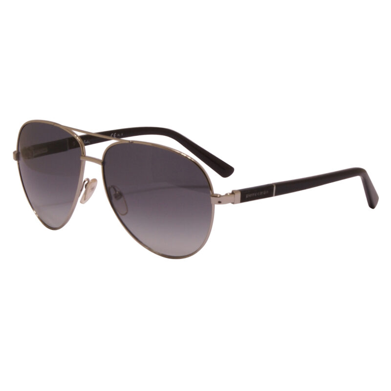 Pierre Cardin – Palladium Silver Aviator Style Sunglasses with Case