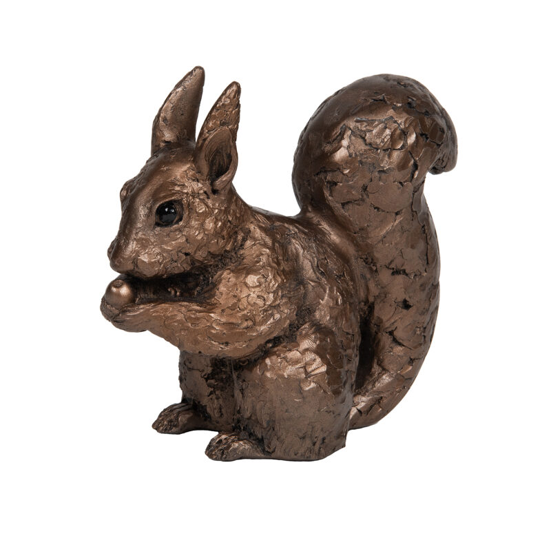 Frith Sculpture – Red Squirrel in Bronze Resin by Adrian Tinsley in Gift Box