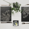 The Just Slate Company – Set of 2 Hare Engraved Slate Tablemats